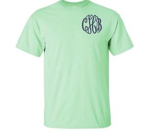 YOUTH Monogrammed T-shirts.  Short sleeve.  XS, S, M, L, XL  Monogrammed T-shirt.