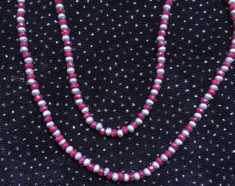 Ruby and Thai Silver Necklace  N37