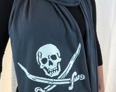 Gray Glow in the Dark Pirate Scarf