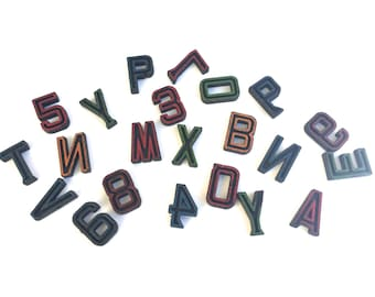 Vintage Letter & Number lot ~Mixed lot of old letters and numbers~ Industrial Sign or play letters~ set of 22