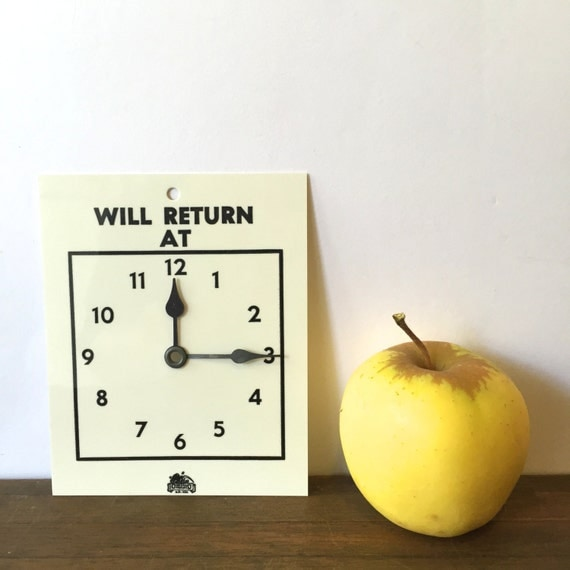 Vintage Will Return At Clock Door Sign Store