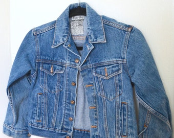 Vintage Kids Denim Jacket/ Boys Jean Jacket/ Small Size 8