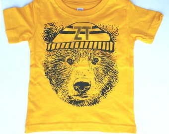 Kids Tagless ZT BEAR Face Tee T Shirt + Free Shipping