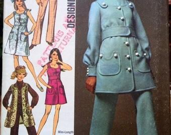 1960s Sewing Patterns - vintage sewing pattern - jumpsuit - Simplicity - mini dress - romper - tunic vest - pantsuit pattern - size 8 (4)