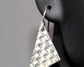 Woven Fine Silver Earring...
