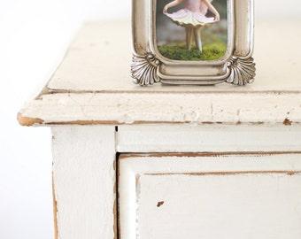 Silver Nursery Decor, Flower Fairy Decoration Photograph, Golden Photo Home, Girls Bedroom Room Miniature Magical