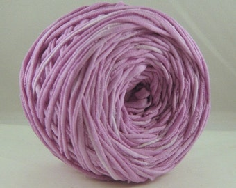 T Shirt Yarn Hand Dyed- Lilac 60 yards