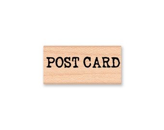 POST CARD~Rubber Stamp~Rustic Vintage Post Card Stamp~Type Font~Letter Writting~Wood Mounted Rubber Stamp (55-44)