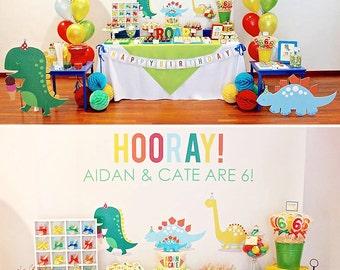 DIGITAL FILES Dinosaur Party Decorations Dino Parade Birthday Kit Customized Baby