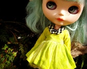 PATTERN Blythe Doll Designer Pattern/Tutorial PDF for Hand-Dyed Floating Collar Short Dress with Lace Edged Sleeves  by Cindy Sowers