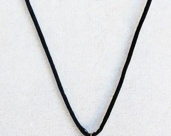 Vintage Cloisonne Owl Necklace on Handmade Satin Cord, Double Sided Cloisonne Necklace, Rust and Black Vintage Cloisonne Owl Pendant