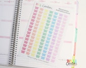 Laundry Basket Stickers Rainbow - Planner Stickers