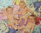 Vintage Baby Anne Curt and Richie Paper Dolls and Clothes 1940s