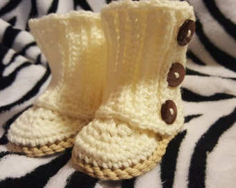 Crochet Wrap Baby Girl Boots Booties Tall