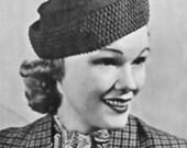 PDF Crochet Pillbox Hat Pattern Sport Pill Box 1930s Head Size 22 Inches