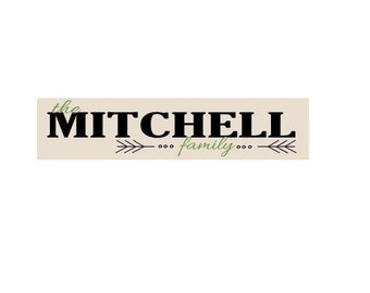 Last Name Personalized Family Sign