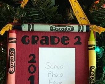 2016 Grade 2 Crayon Keepsake School Photo Ornament
