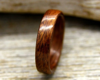 Bentwood Ring - Santos Rosewood Wooden Ring - Handcrafted Wood Wedding Ring - Custom Made