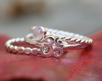 Om Sterling Silver Ring, Stacking Rings, Yoga Jewelry, Handmade