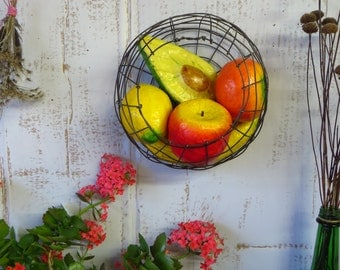 Woven Wire Wall Sphere Basket