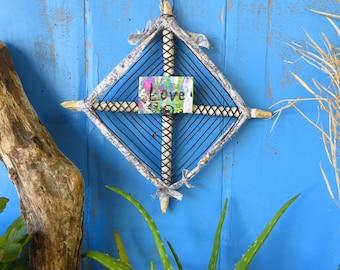 Boho God's Eye Wall Hanging Sculpture Affirmation Holder