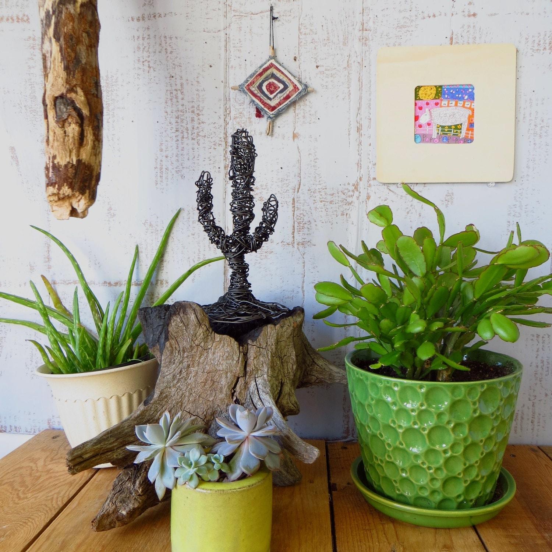 Wire Cactus Sculpture
