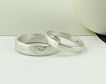 sterling silver wedding ring forged matte wedding band wedding ring simple