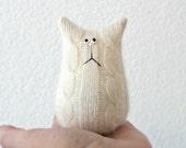 Stuffed Animal Cat - Cashmere Cat - Felted Wool Cat - Tiny Cat - Cat Lover Gift - Child Soft Toy - Plush Toy - Stuffed Toy - Cute Plush Toy