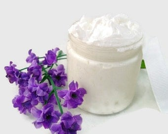 Whipped Shea Body  Butter - Citrus Cilantro - 4 ounce - Vegan friendly.Body butter with coconut oil added