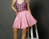 Pastel Pink PVC Skater Skirt