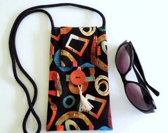 Neck or Shoulder Bag in an Abstract Design