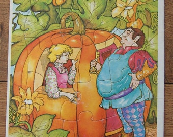 vintage 1981  frame tray childrens puzzle Peter Peter Pumpkin Eater 8 1/4 x 11 inches toy children