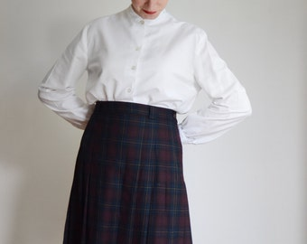 1960s White Long Sleeve Blouse - S/M