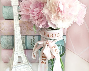 Paris Peonies, Flower Photography, Romantic Peonies French Decor, Paris Peonies Floral Art Print, Shabby Chic Peonies, Peony Prints Wall Art