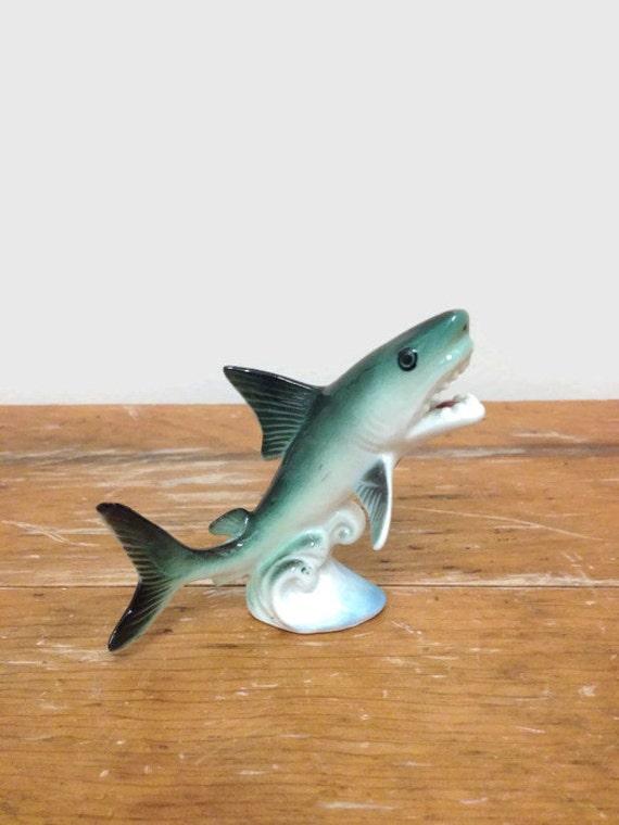 Vintage Great White Shark Figurine - Porcelain - Bone China Animal