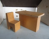 SALE Creative Playthings Dollhouse Furniture. Made in Finland. Table and Chair. #256
