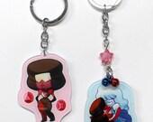 Garnet Ruby Sapphire - Steven Universe Double-Sided Acrylic Keychain