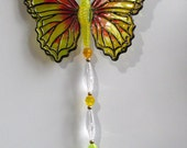 BUTTERFLY CHARM,Faux Stained Glass,Rear Window Dangle,Hostess Gift,Party Favor,Housewarming Gift,Jewels Charms,Sun Catcher,Suncatcher Prism