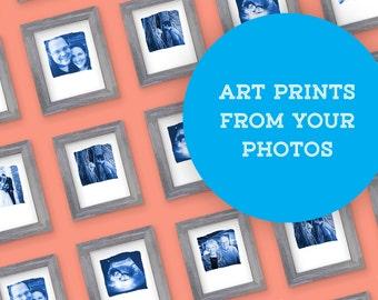 Unique gift made from your photos, Unique Instagram Print, Analog Instagram Print, Custom Photo Print, Instagram Art