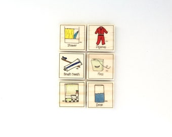 Bedtime Chore Magnet Set of 6 - Chore Magnets