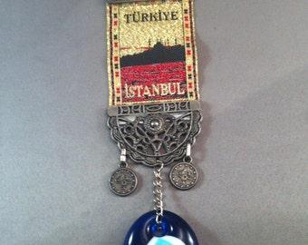 Vintage Souvenir All Seeing Eye Turkey Istanbul, Turkiye Istanbul , Souvenirs From Turkey, turkey Souvenir, All Seeing Eye Stone, USA ONLY