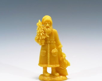 Honey Scented Beeswax Santa Ornament Beeswax Belsnickel Christmas Ornament Old World Santa Beeswax Santa Claus Honey Scented Ornament