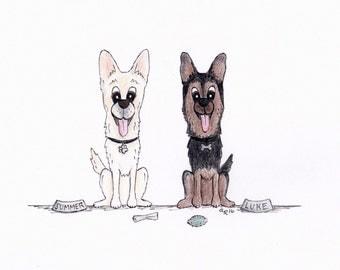 Custom Cartoon Pet Caricature