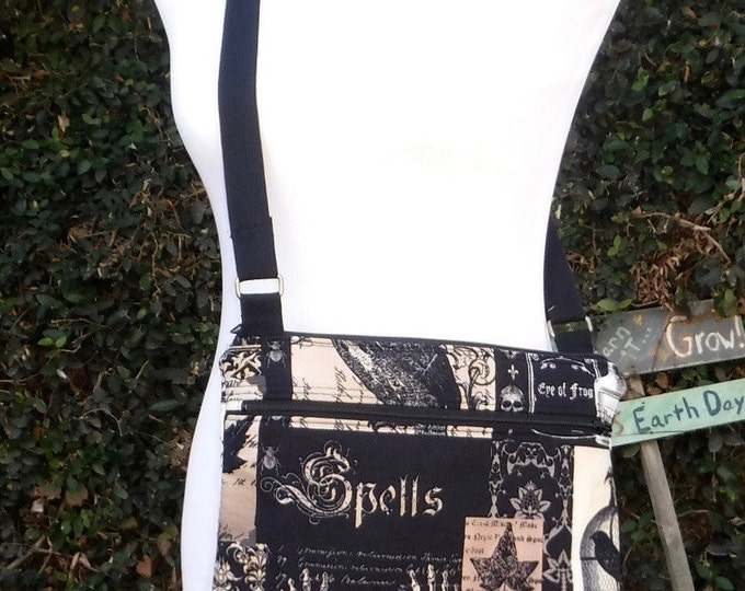 Nevermore cross body tote/purse - ready to ship