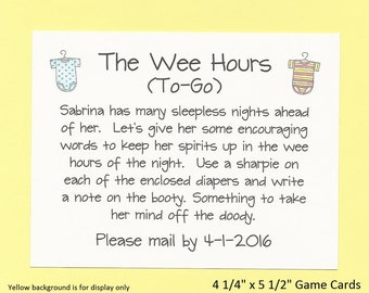 The Wee Hours To Go   Long Distance Baby Shower Game   Cute U0026 Funny