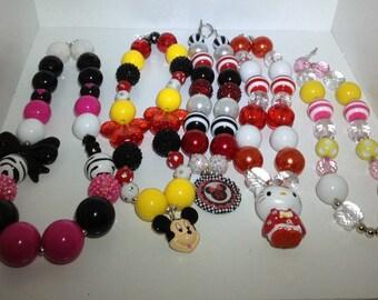 Bubblegum necklace chunky necklace bubblegum necklace children necklace  kids necklace chunky bead necklace