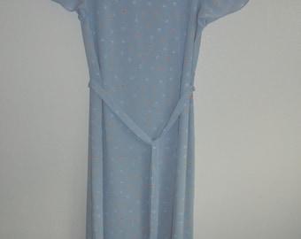 Vintage Pastel Blue Alison Peters Dress