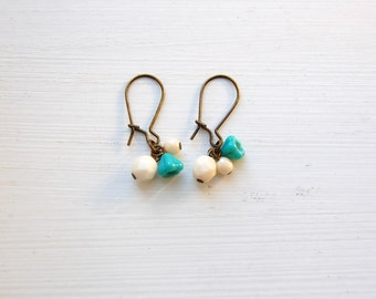 Snow and flowers earrings