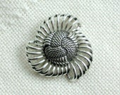 Boucher Brooch Pin 652 Signed Marboux Pinwheel Knot Vintage 60s Costume Jewelry