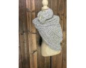 Mountain Girl Crochet Wrap - Katniss Cowl - GRANITE